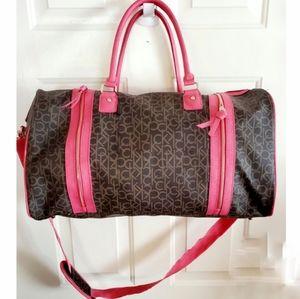 🎉Calvin Klein Monogram Leather Pink Duffle Bag🎉